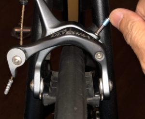 ブレーキアームのセンタリング調整